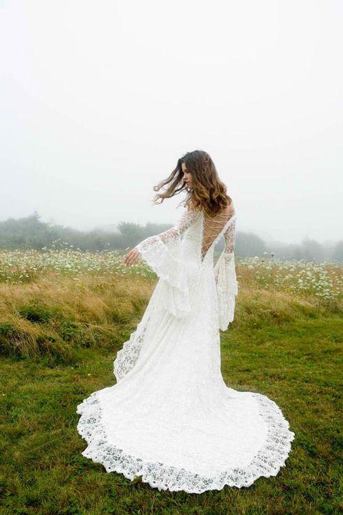 Bohem - Boho wedding dress If I ever renew vows.. im wearing this..