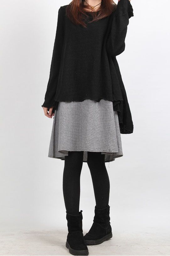 Questo è un disegno a due pezzi, con maglione di peso, buona qualità, semplice ed elegante, casual rilassato versione.    【Fabric】  cotone  【Color】