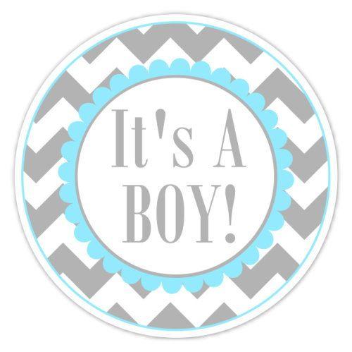 Baby Shower Labels Chevron Itu0027s A Boy Stickers By Delightdesignbiz, $5.95