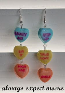 Sweetheart Candy Dangly Earrings - Always Expect Moore