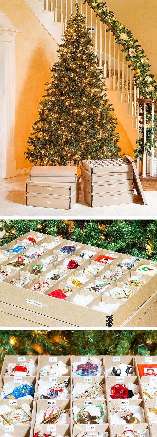 A sweet ornament tradition receives a storage upgrade.