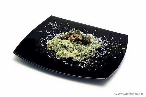 Ризотто с грибами и шпинатом