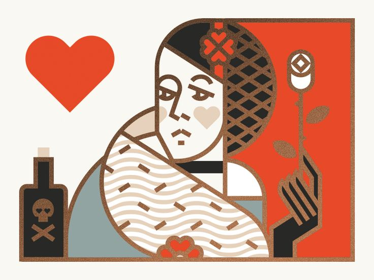 Queen of Hearts by Jay Fletcher #illustration #chracter #human #woman