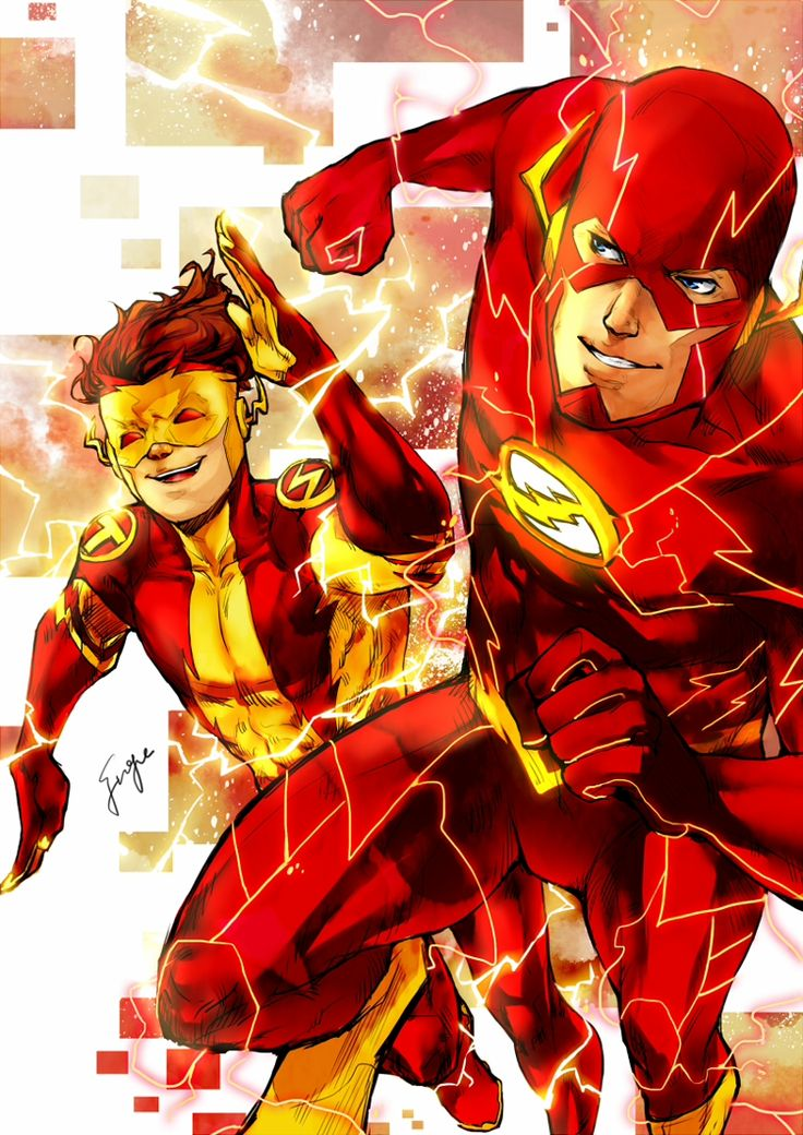 52 Photos 37 Reviews: New 52 The Flash And Kid Flash By FuGe