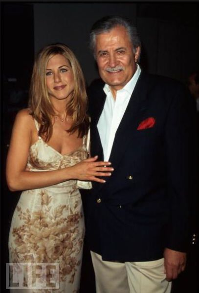 Actor #John-Aniston (Giannis Anastasakis Born: Greece, July 24, 1933)  and actress daughter, #Jennifer-Aniston,  Born: February 11, 1969