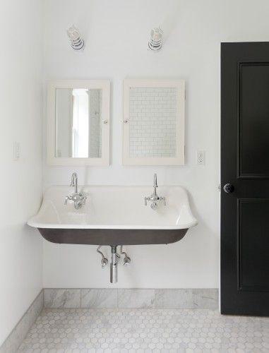 Classic black & white, Kohler sink