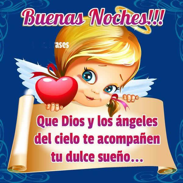 Llego una noche oscura y hermosa y te deseo buenas noches que Dios y los ángeles del cielo te acompañen en tu dulce sueño. El cielo en determinadas religio