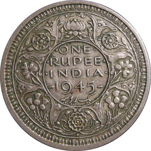 One Rupee, India, 1945