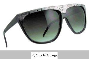Chantilly Lace Flat Bridge Sunglasses - 294 Silver/Black