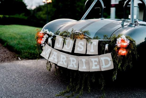 We love this just married sign for the getaway car! Castleton Events thinks of everything and always in the cutest way! Click the image to learn more. Photo credit: Ben Finch Photography
