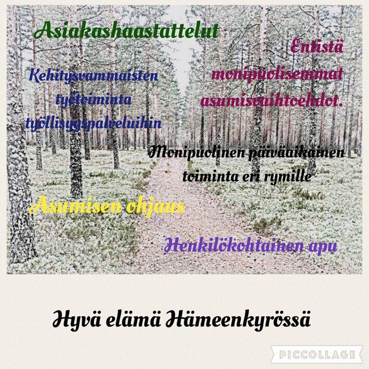 Hyvä elämä Hämeenkyrössä.
