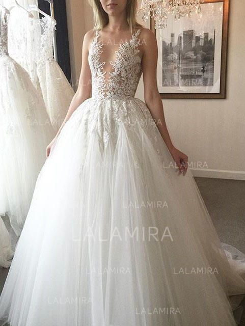 ab3ea22256c Ball-Gown Scoop Court Train Wedding Dresses (002144893) - Wedding Dresses   144893 - lalamira