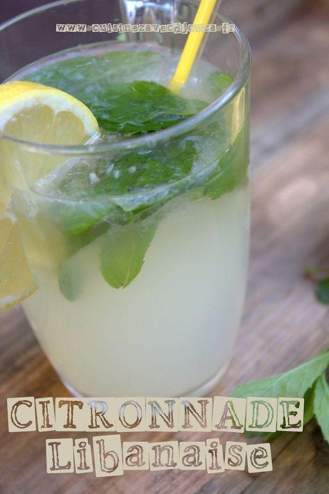 La citronnade libanaise, Une boisson qui se boit très fraîche préparée avec du citron, de la menthe et une pointe d'eau de fleur d'oranger : les citrons