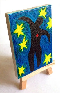 Mini Matisse painting with Sharpie Brush Markers. Art Projects for Kids