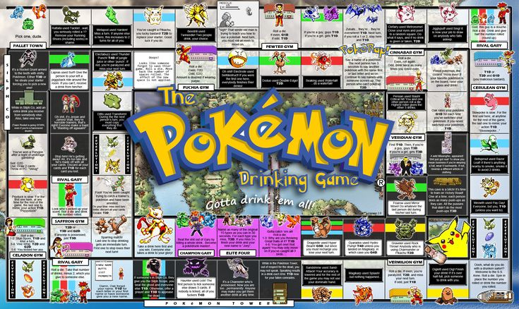 pokemon drinking board game | The Pokemon Drinking Game v2.0 by vincentvang on deviantART