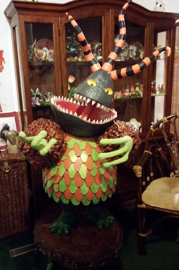 nightmare before christmas home haunt by sue roberts halloween props nightmarebeforechristmas foamart - Tim Burton Halloween Decorations