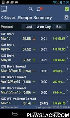 ICE Mobile  Android App - playslack.com ,  ************************************************************ PLEASE DO NOT DOWNLOAD BEFORE READING ------------------------------------------------------------ICE mobile is for use ONLY by Commodity Trading Industry Professionals with an Existing WebICE user account. Prior to use, all ICE mobile users must be registered with the ICE as having a valid WebICE user account in order to utilize this application. If you are a Commodity Trading Industry…