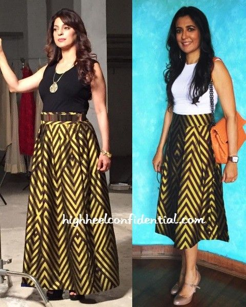 payal khandwala outfit | juhi-chawla-mini-mathur-payal-khandwala-skirt
