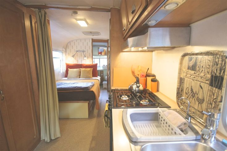 A 28′, 1974 Avion camper in Big Sur, California that you can stay in.