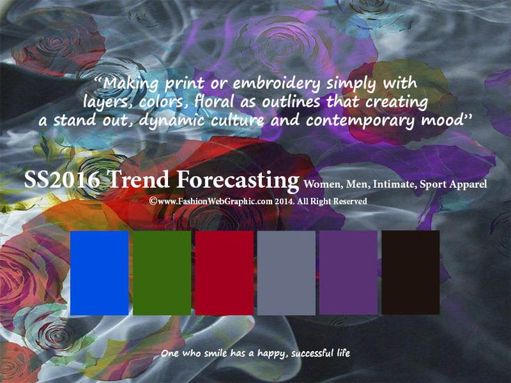 SS2016 trend forecasting for Women, Men, Intimate, Sport Apparel - Making print or embroidery simply with layers, colors, floral as outlines that creating a stand out, dynamic culture and contemporary mood  www.FashionWebGraphic.com