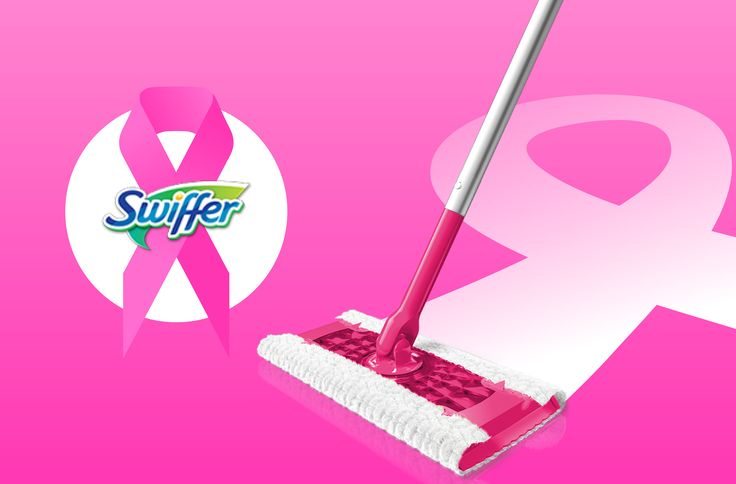 Go Pink by getting a case of Swiffer's Dry & Wet Mop Sweeping Kit Limited Edition, you can increase awareness too and you'll get a revolutionary cleaning product at the best price available while your at it.  Spread the word!