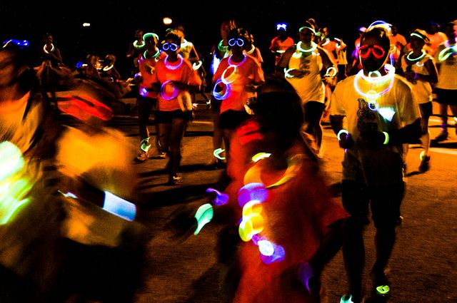 Glow Stick Necklaces for Glow Runs & Marathons! https://glowproducts.com/us/22inchassortedeconomy #glowrun #glowrace