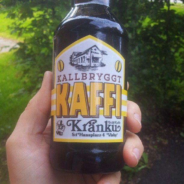 """Photo by rinblad  """"Testar en #kaffi från #kraenku. Inte dumt alls. Fin vaniljton."""""""