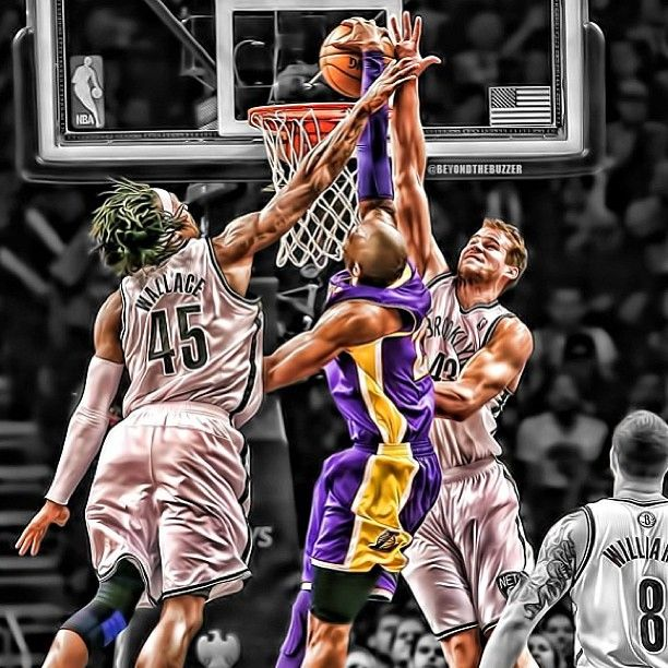 kobe dunk on  | Kobe Dunk on Gerald Wallace and Kris Humphries