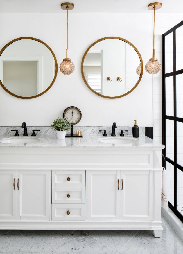 17 ideas about bathroom vanity mirrors on pinterest - Small bathroom vanity mirror ideas ...