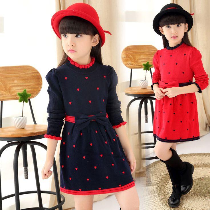 $23.59 (Buy here: https://alitems.com/g/1e8d114494ebda23ff8b16525dc3e8/?i=5&ulp=https%3A%2F%2Fwww.aliexpress.com%2Fitem%2FKids-Girls-Fall-Winter-Dress-One-piece-Sweater-Dress-with-Bow-Heart-Shape-Printed-Knit-Dress%2F32509601097.html ) Kids Girls' Fall Winter Dress One-piece Sweater Dress with Bow Heart Shape Printed Knit Dress 1192 for just $23.59