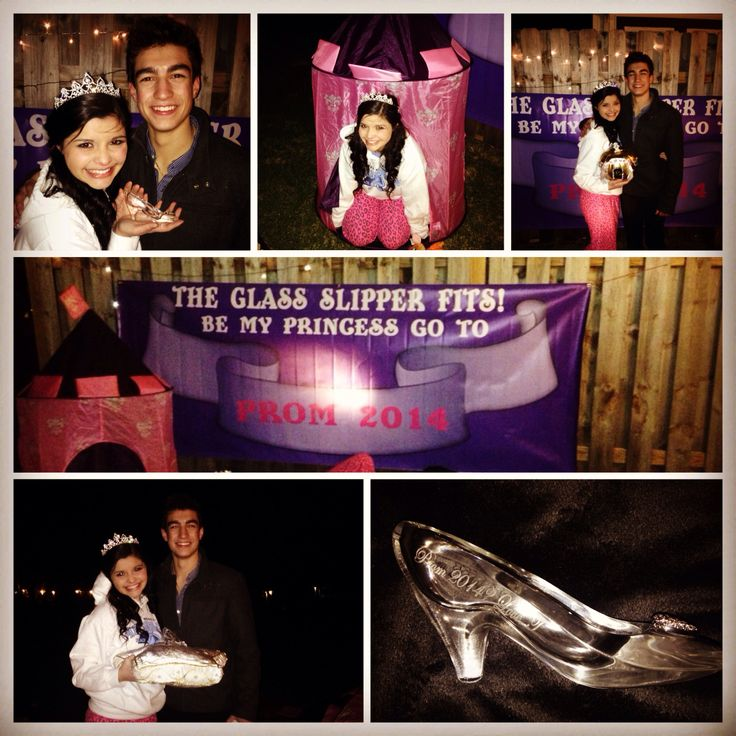 Promposal The Glass Slipper Fits Prince Charming Found