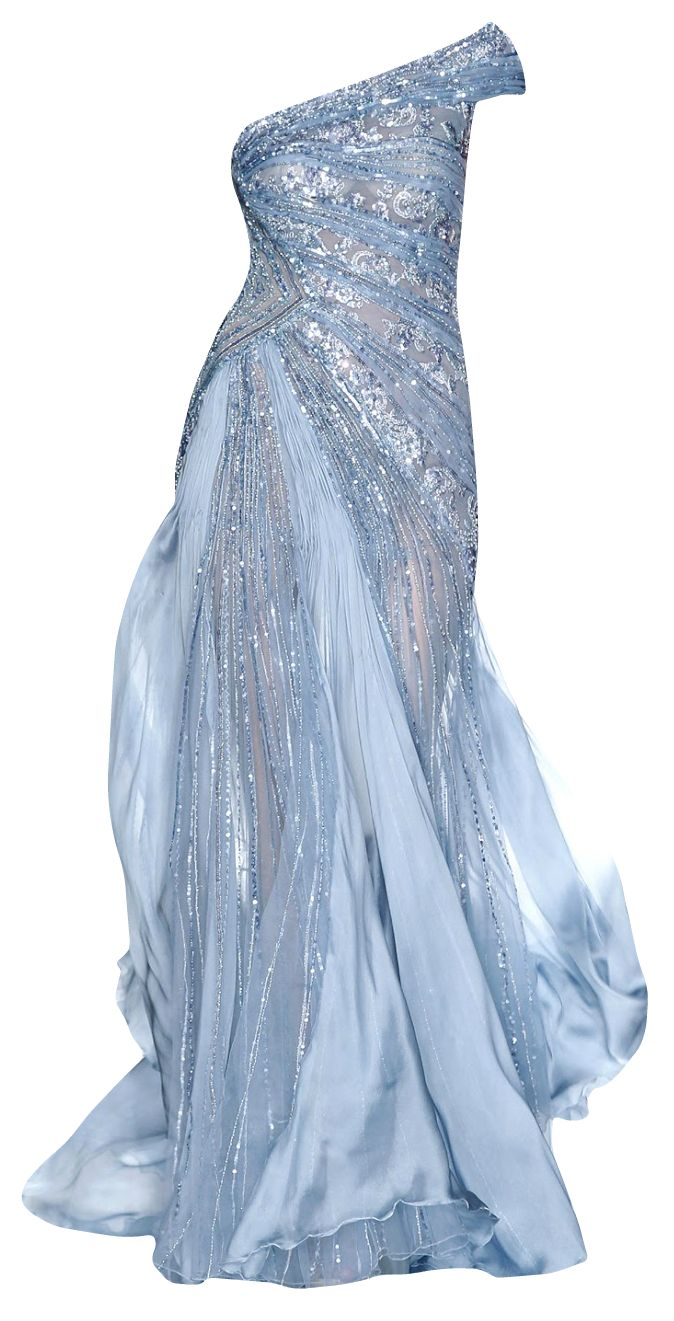 Icy blue gown