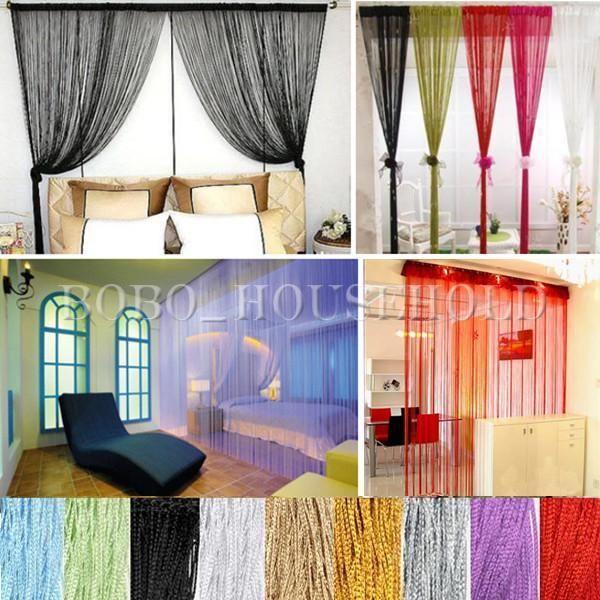 1m X 2m Window Fringe Wall Panel Room Divider Strip Tassel Line String Curtain #Other