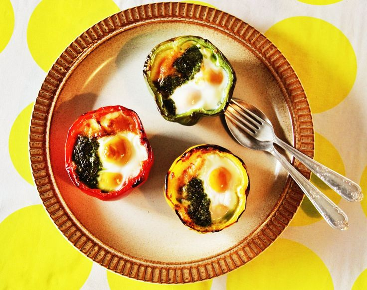 Another breakfast idea from Zoe:  Baked Capsicum Eggs with pesto. So easy and fun for kids too. The recipe is in the free EBOOK on the website for those that haven't found it. (Download it here - http://mad.mn/thatsugarebook) There are some terrific new recipes on their way too.