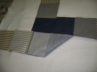 Dethär är också en trevlig väska i lappteknik och mycket lätt att göra. Man börjar med att sy ihop åtta stycken fyrkanter med en stor botten...
