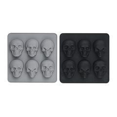 Anyone for a muffin? Silicon skull muffin mold.