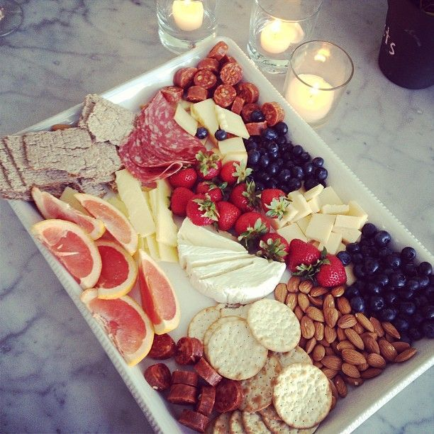 Charcuterie delight - great appetizer for guest visits