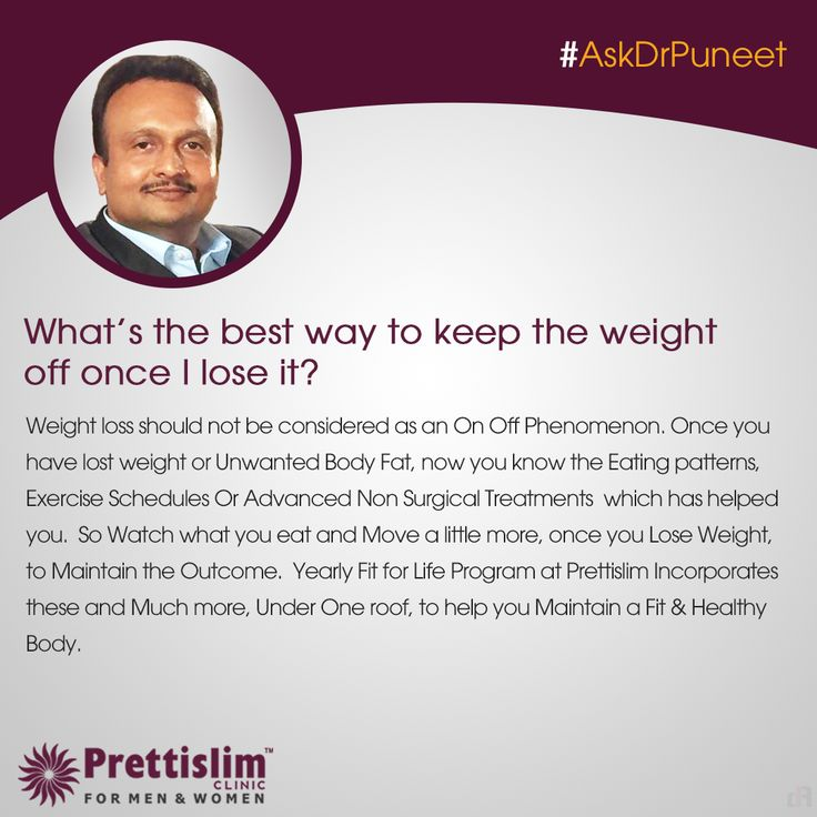 Wondering about Maintaining Health or Weight Loss? Send in your queries with #AskDrPuneet, and our MD will answer a new question every Thursday!8080812201 | www.prettislim.com #weightloss #fattofit