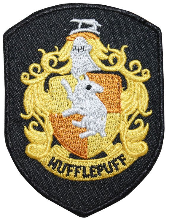 Smaller Hufflepuff Hogwarts' House Shield Harry Potter Iron On Badge Applique Patch