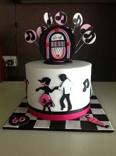 Rock and roll cake for di's 60th.  Modeled on a design by sugar siren | by Michelle Ward