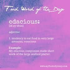Food Word of The Day: Edacious