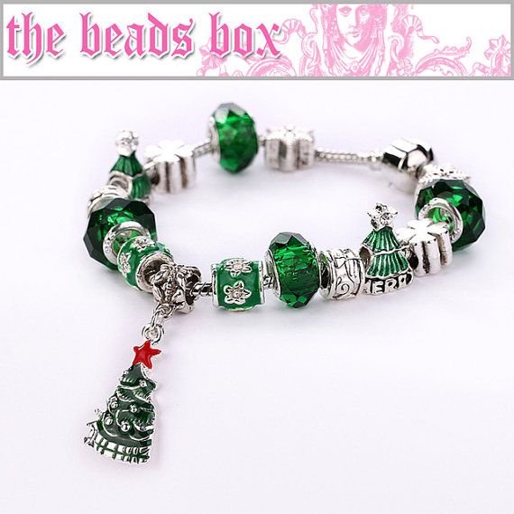 AA-28 Merry Christmas Bracelet 925 Sterling Silver by TheBeadsBox