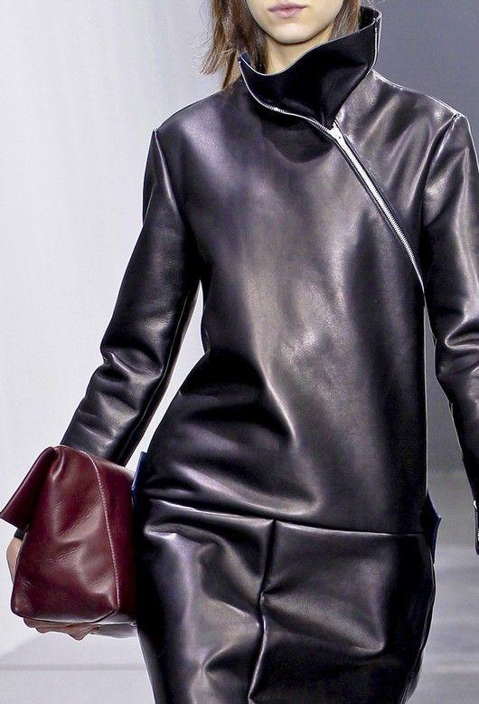 Celine leather.