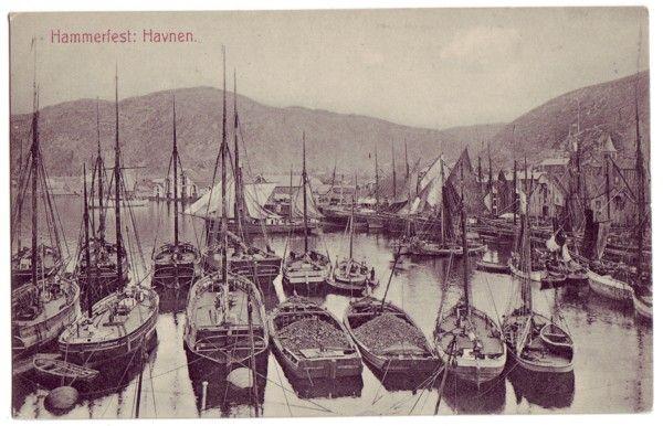 Stedskort: Hammerfest: Havnen.