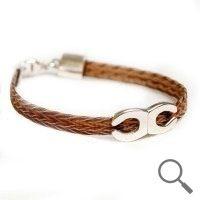 The original collection by designer Nanna Salmi Horsehair bracelet Shoe-shoe, Ribbon 6mm