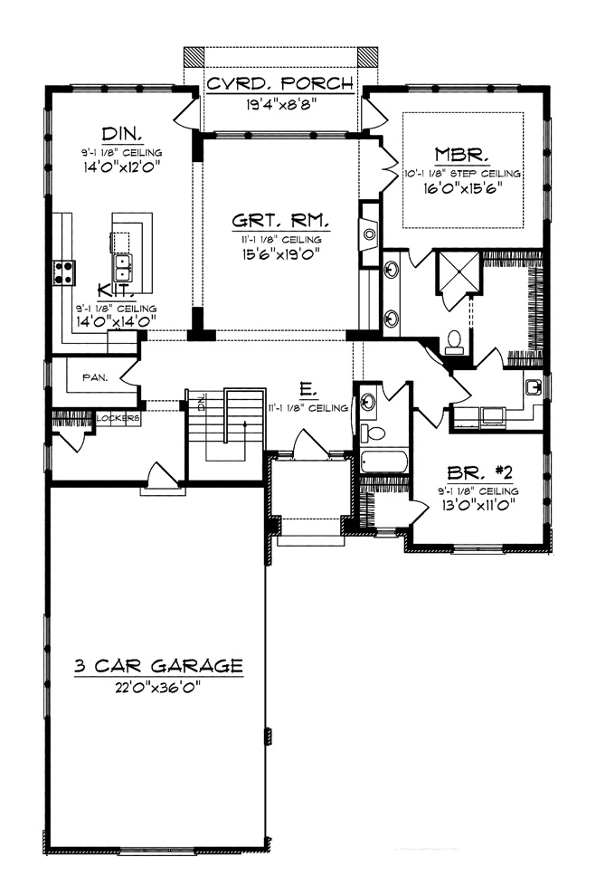 Home plans homepw75811 1 993 square feet 2 bedroom 2 for French country garage plans