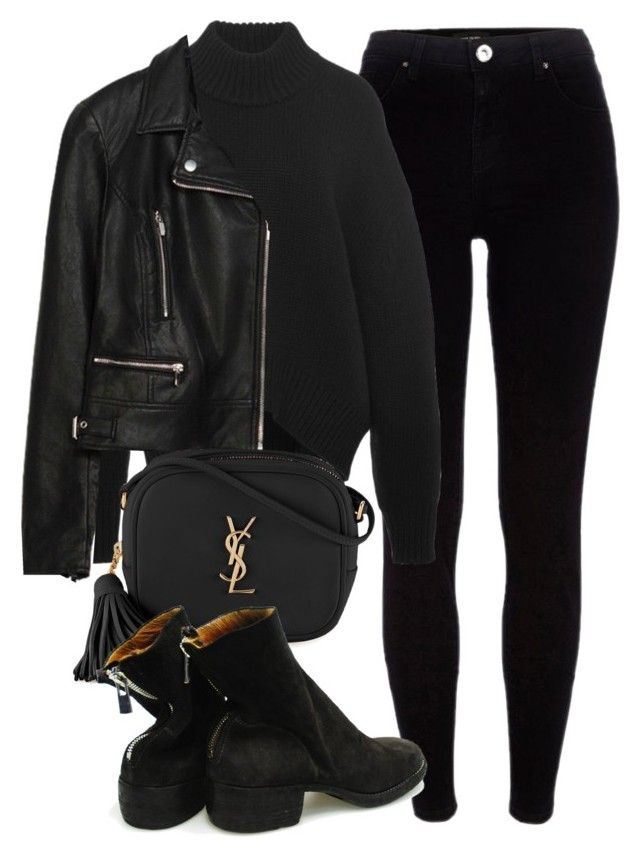 Untitled #6123 by laurenmboot on Polyvore featuring polyvore, fashion, style, Brock Collection, Zara, River Island, Yves Saint Laurent and clothing