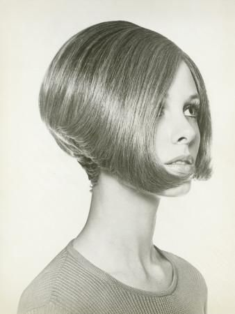 60s 70s bob hairstyle vintage