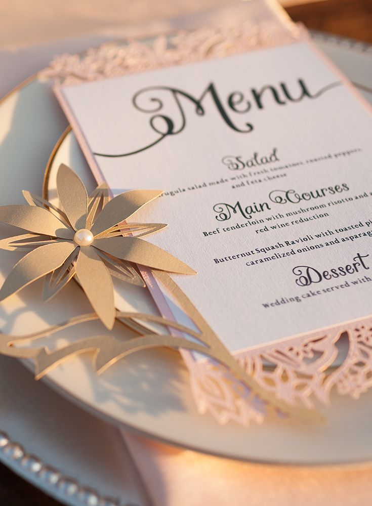 The 10 000 Cricut Wedding Giveaway Wedding Menu Cards