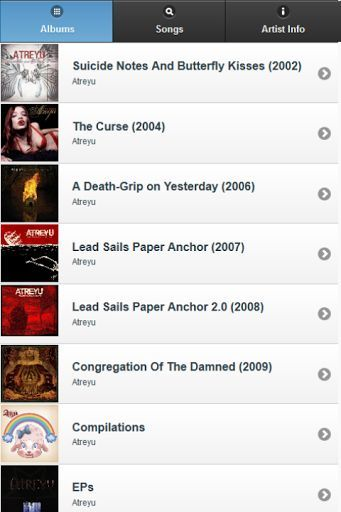 You are looking for Atreyu lyrics? <br>This app has ALL. If you can't find one, please let us know and we'll add it immediately. <br>Simply this is a must-have app for Atreyu fans, and better thing is it's FREE for you.<br>You can search lyrics easily by albums (sorted chronologically), or by song title (sorted alphabetically).<br>Atreyu All Lyrics main features:<br>- Browse lyrics by album<br>- Search for lyrics by song title<br>- Useful information <br>+ Official website<br>+ Official…